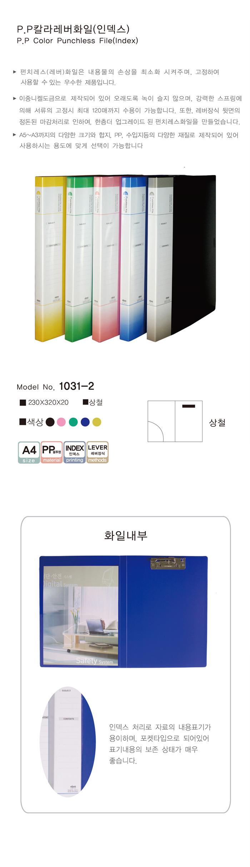 현풍 PP 펀치리스화일 A4 상철 2개MO - 현풍산업사, 3,600원, 파일/클립보드, 클리어화일